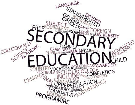 voortgezet onderwijs: Abstracte woord wolk voor voortgezet onderwijs met gerelateerde tags en termen