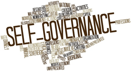 outsiders: Abstract word cloud for Self-governance with related tags and terms
