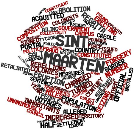 Abstract word cloud for Sint Maarten with related tags and terms Stock Photo - 17030904