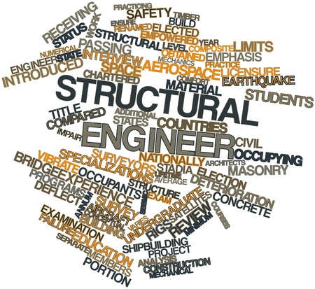 deflect: Abstract word cloud for Structural engineer with related tags and terms