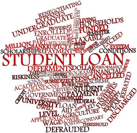 financial year: Abstract word cloud for Student loan with related tags and terms