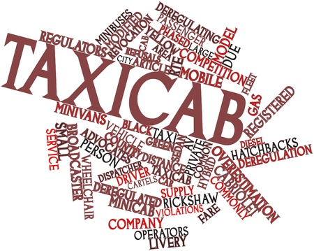 deregulation: Abstract word cloud for Taxicab with related tags and terms