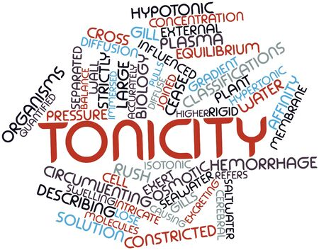 influenced: Abstract word cloud for Tonicity with related tags and terms