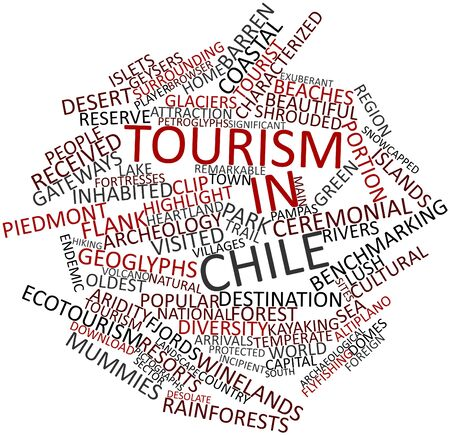 geoglyphs: Abstract word cloud for Tourism in Chile with related tags and terms