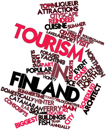 finland: Abstract word cloud for Tourism in Finland with related tags and terms