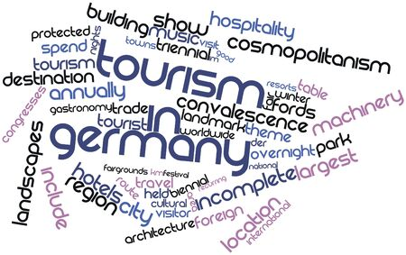 convalescence: Abstract word cloud for Tourism in Germany with related tags and terms