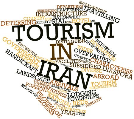 distinguish: Abstract word cloud for Tourism in Iran with related tags and terms
