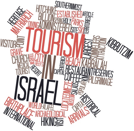Abstract word cloud for Tourism in Israel with related tags and terms Stock Photo - 17024220