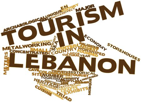 Abstract word cloud for Tourism in Lebanon with related tags and terms Stock Photo - 17020500