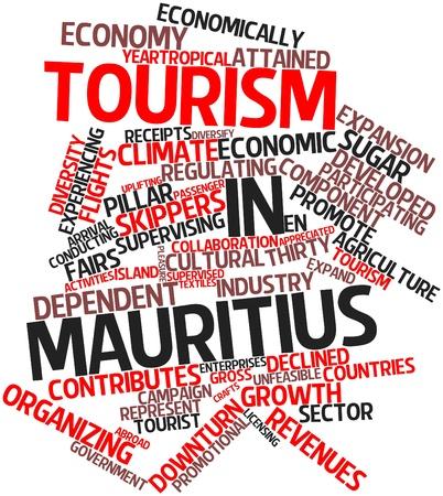 関連タグと用語とモーリシャス観光抽象的な単語の雲