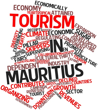 Abstract word cloud for Tourism in Mauritius with related tags and terms Stock Photo - 17024202