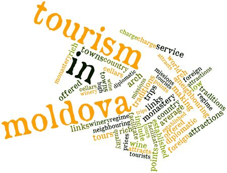 Abstract word cloud for Tourism in Moldova with related tags and terms Stock Photo - 17020489