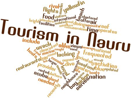 Abstract word cloud for Tourism in Nauru with related tags and terms photo