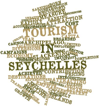restored: Abstract word cloud for Tourism in Seychelles with related tags and terms
