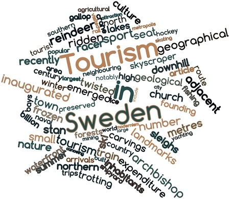 emerged: Abstract word cloud for Tourism in Sweden with related tags and terms