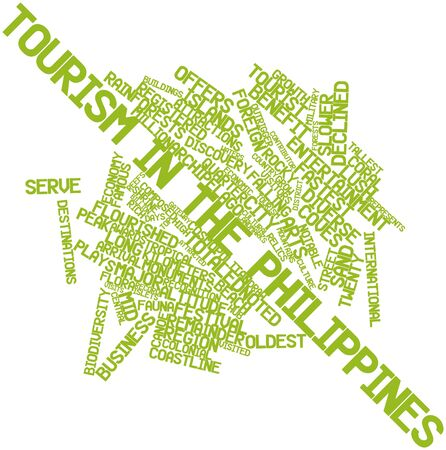 Abstract word cloud for Tourism in the Philippines with related tags and terms Stock Photo - 17023588