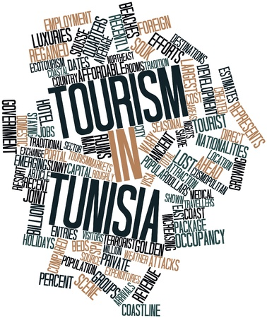 related: Abstract word cloud for Tourism in Tunisia with related tags and terms