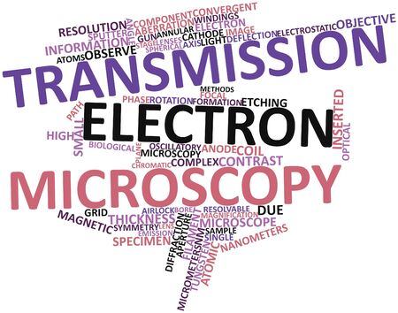 microscopy: Abstract word cloud for Transmission electron microscopy with related tags and terms