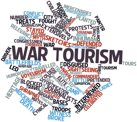 argued: Abstract word cloud for War tourism with related tags and terms