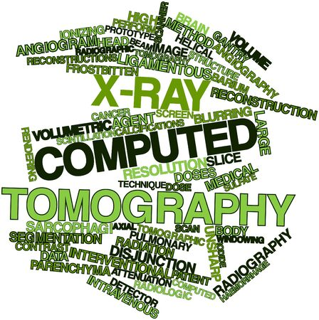colonoscopy: Abstract word cloud for X-ray computed tomography with related tags and terms