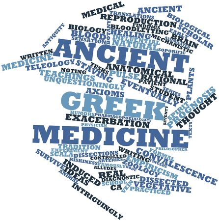 convalescence: Abstract word cloud for Ancient Greek medicine with related tags and terms