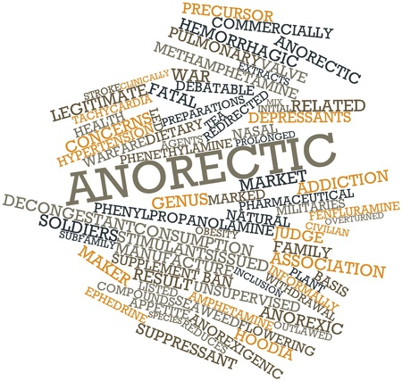 legitimate: Abstract word cloud for Anorectic with related tags and terms