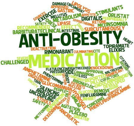 Abstract word cloud for Anti-obesity medication with related tags and terms Stock Photo - 17149251