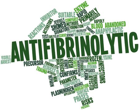 confirms: Abstract word cloud for Antifibrinolytic with related tags and terms