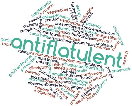 Abstract word cloud for Antiflatulent with related tags and terms Stock Photo - 17148737