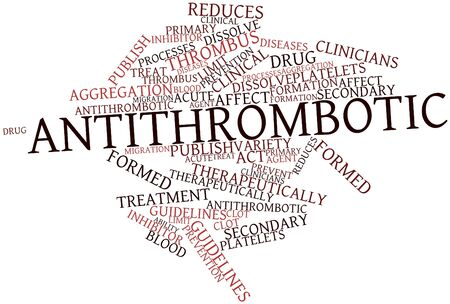 Abstract word cloud for Antithrombotic with related tags and terms Stock Photo - 17141856