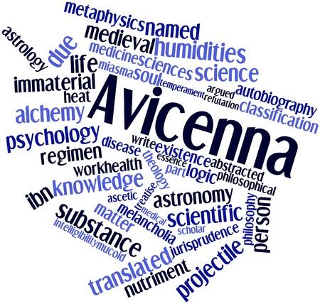 innate: Word cloud astratto per Avicenna con tag correlati e termini