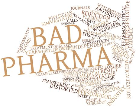exaggerate: Abstract word cloud for Bad Pharma with related tags and terms