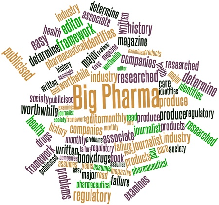 regulatory: Abstract word cloud for Big Pharma with related tags and terms