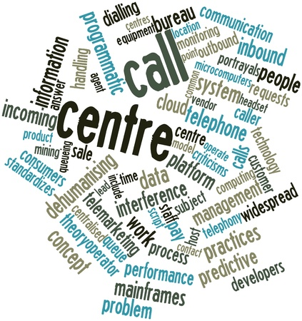 fails: Abstract word cloud for Call centre with related tags and terms Stock Photo