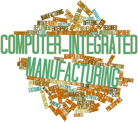 Abstract word cloud for Computer-integrated manufacturing with related tags and terms Stock Photo - 17148935