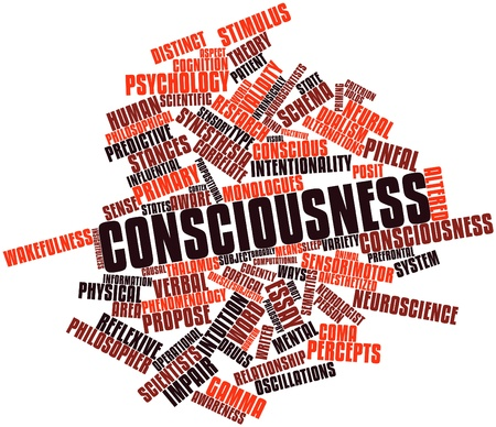 Abstract word cloud for Consciousness with related tags and terms Stock Photo - 17149222