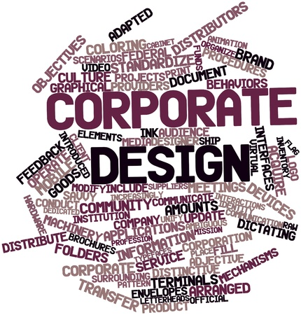 ambiguous: Abstract word cloud for Corporate design with related tags and terms