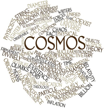 Abstract word cloud for Cosmos with related tags and terms