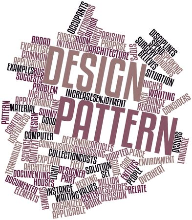 entities: Abstract word cloud for Design pattern with related tags and terms Stock Photo