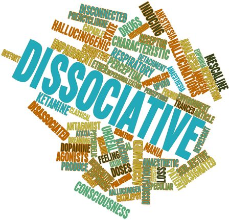 perceptual: Abstract word cloud for Dissociative with related tags and terms
