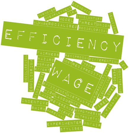 turnover: Abstract word cloud for Efficiency wage with related tags and terms