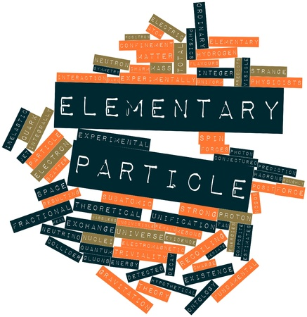 physicists: Abstract word cloud for Elementary particle with related tags and terms