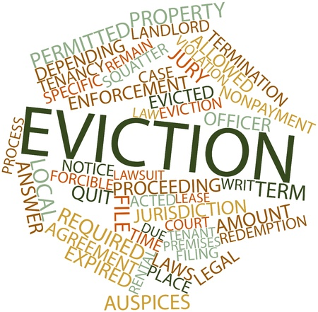 eviction: Abstract word cloud for Eviction with related tags and terms