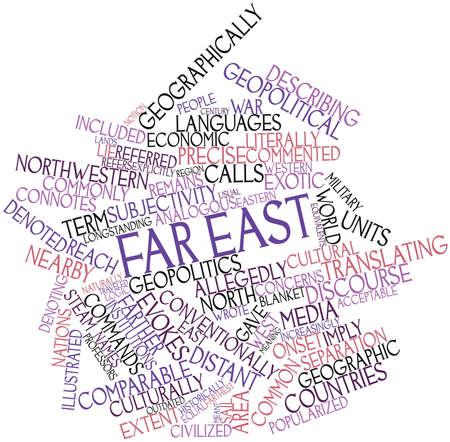 comparable: Abstract word cloud for Far East with related tags and terms
