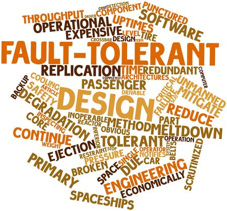 fault: Abstract word cloud for Fault-tolerant design with related tags and terms