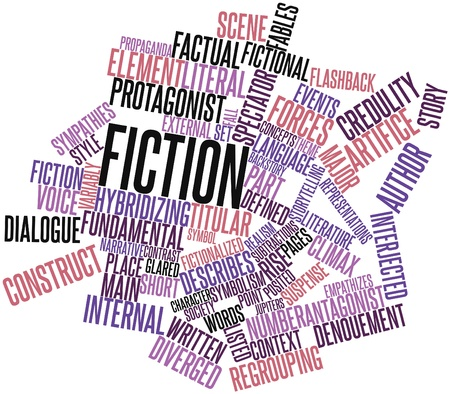 author: Abstract word cloud for Fiction with related tags and terms