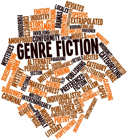 implicit: Abstract word cloud for Genre fiction with related tags and terms