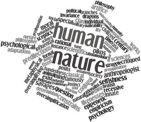 recessive: Abstract word cloud for Human nature with related tags and terms