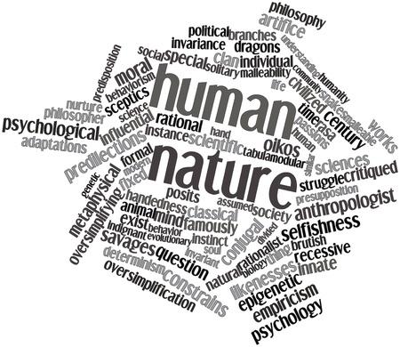 innate: Word cloud astratto per la natura umana con tag correlati e termini