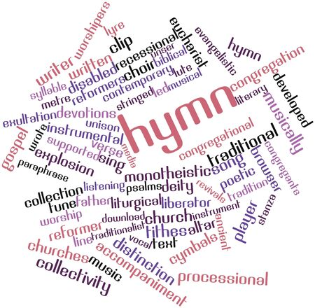 Abstract word cloud for Hymn with related tags and terms photo